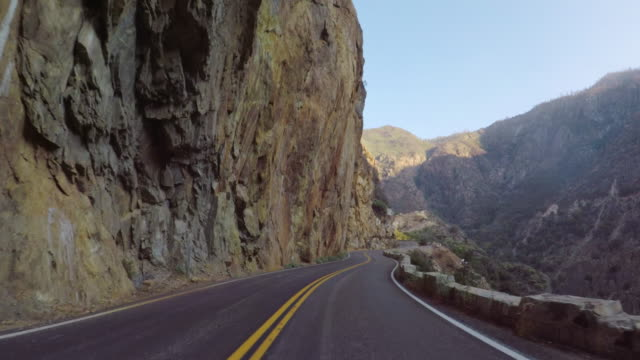 Kings Canyon National park, California: POV car driving video