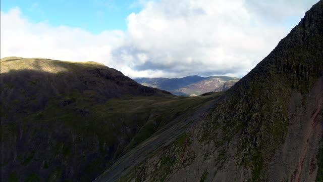 Kirk Fell, Great Gable And On To Hay Stacks  - Aerial View - England, Cumbria, Copeland District, United Kingdom video