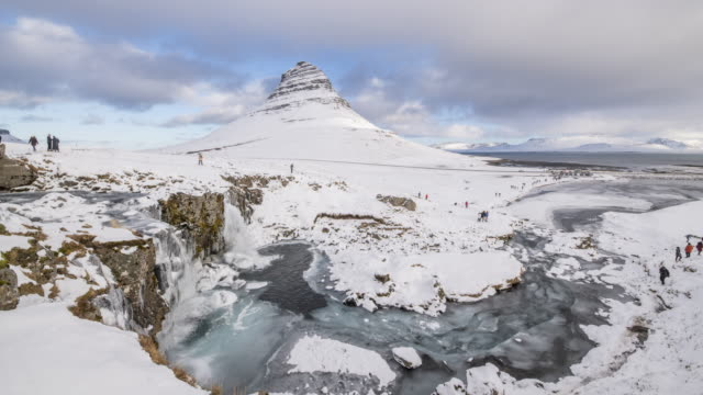 Kirkjufell mountain video