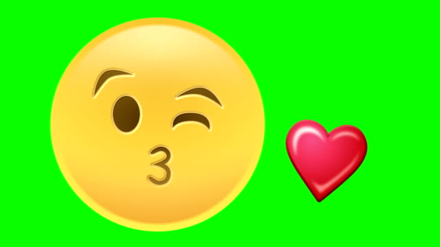Kisses Emoji This animated Emoji is part of a collection, check out my page for more! For best results use: (Pr) Ultra key – standard settings (Ae) Keylight – Gain-100 Balance-0 kissing stock videos & royalty-free footage