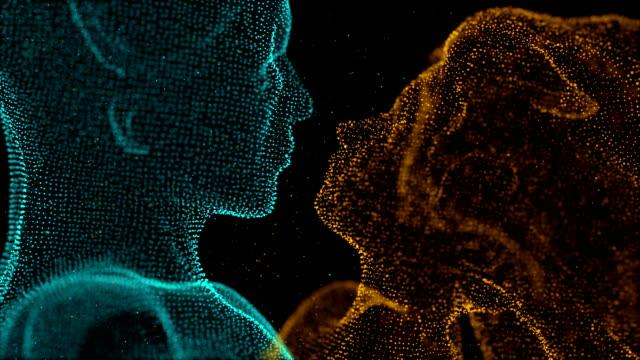 Video kissing digital romance