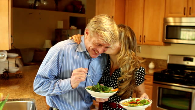 Kitchen Couple Laugh video