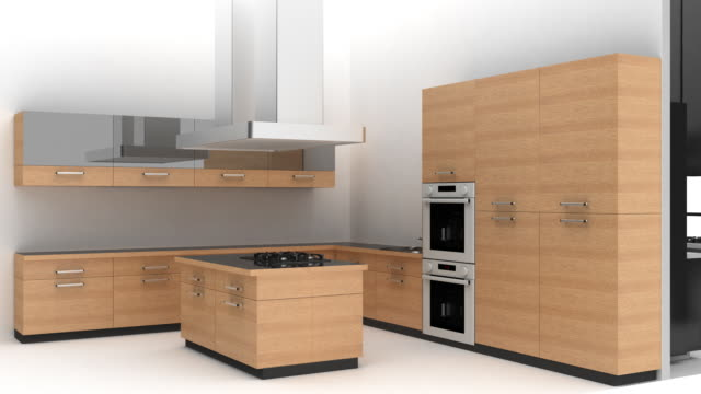 cucina interior (loop - kitchen room video stock e b–roll