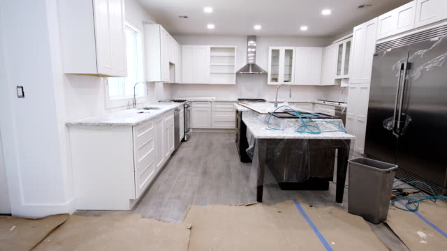 Kitchen remodel home improvement view installed in a new kitchen Kitchen remodel home improvement view installed in a new kitchen renovation stock videos & royalty-free footage