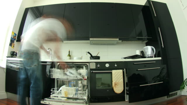 Kitchen Time-Lapse House clean cabinet stock videos & royalty-free footage