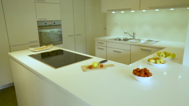 Kitchen With Flat Door Style And Modern Interior Design Stock Video Download Video Clip Now Istock