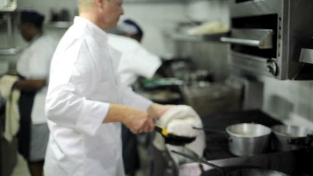 kitchen workers - chef stock videos and b-roll footage