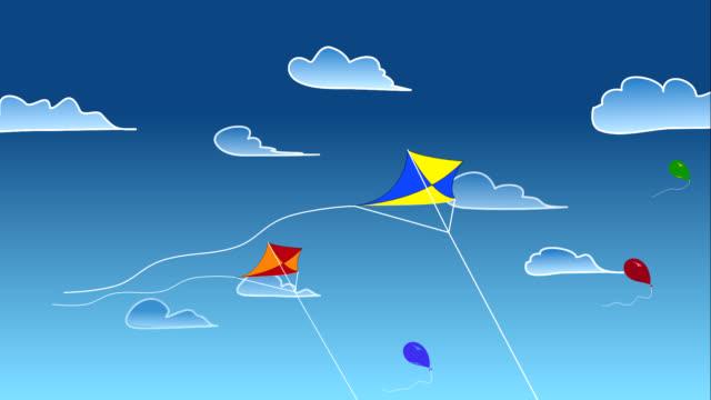 vídeos y material grabado en eventos de stock de kite y globos en el cielo - parte del cuerpo animal