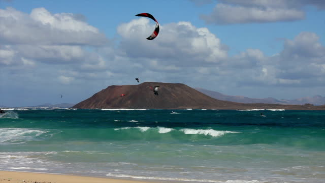Kite surfing on fuerteventura