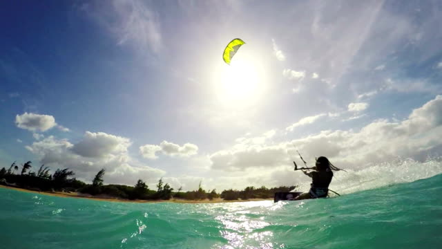 Kitesurfing in Hawaii. Summer Extreme Sports. video