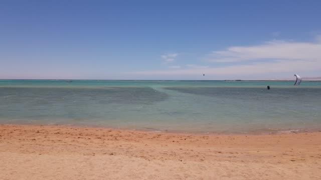 Kitesurfing on the sea. video