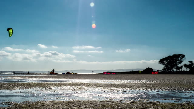 Kitesurfing spot with rising tide video