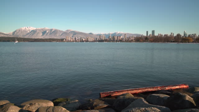 Kitsilano Beach, English Bay Winter, Vancouver 4K UHD video