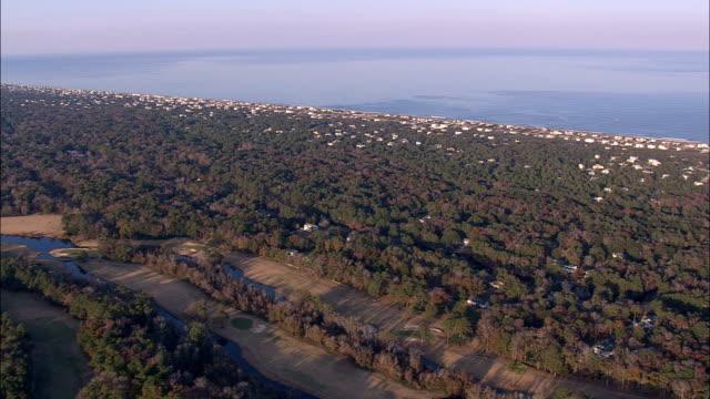 kitty hawk - Aerial View - North Carolina,  Dare County,  United States video