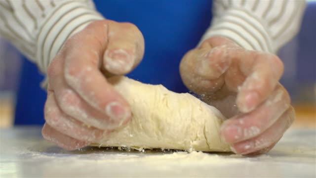 Kneading Yeast Dough, Slow Motion video
