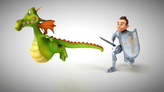 Knight and Dragon - 3D Animation video
