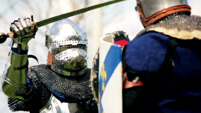 Knight sword fighting Knight sword fighting knight person stock videos & royalty-free footage