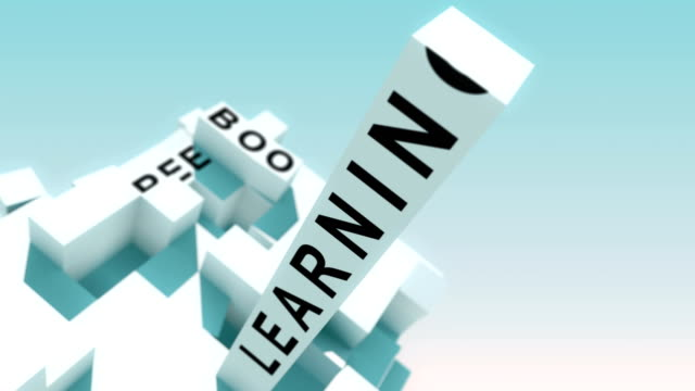 Knowledge Words Animated With Cubes video