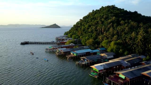 Koh Phitak fishing village, Chumphon, Thailand. video