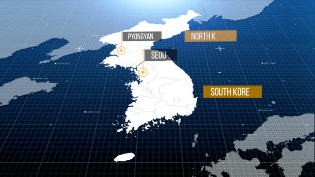 vídeos de stock, filmes e b-roll de mapa da coreia - coreia