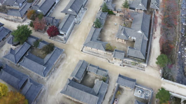 Korean traditional house village from the sky