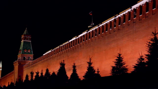 kremlin wall. - röda torget bildbanksvideor och videomaterial från bakom kulisserna