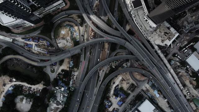 クアラルンプール空中高速道路ジャンクション - マレーシア点の映像素材/bロール