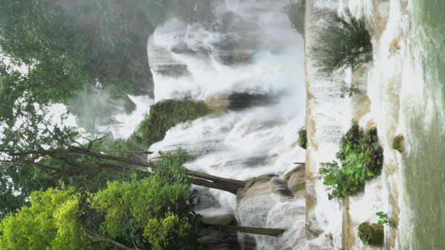 4K (Vertical), Kuang Si waterfall in Luang Prabang, Laos. video