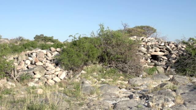 Kubu Island archaeological site,Botswana Kubu Island archaeological site,Botswana makgadikgadi pans national park stock videos & royalty-free footage