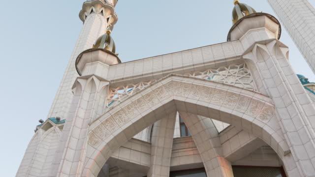 Kul Sharif mosque Kazan Tatarstan Russia. Summer day dolly track out. video