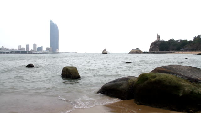 kulangsu beach at daytime - xiamen bildbanksvideor och videomaterial från bakom kulisserna