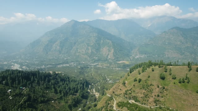 Kullu valley in a sunny day. Manali, Himachal Pradesh, India. video