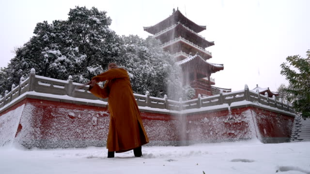 Kung Fu Monk Warrior in Shaolin Temple China
