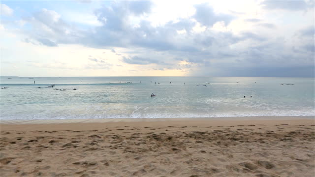 kuta beach, Tropical beach in Bali, Indonesia. video