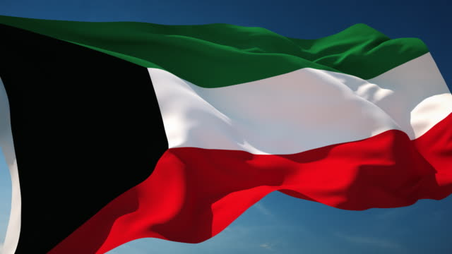 4K Kuwait Flag - Loopable video
