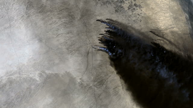Kuwait Oil Fires From Space video