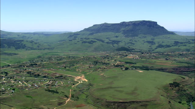 Kwamankonjane And Noibidwana  - Aerial View - KwaZulu-Natal,  South Africa This clip was filmed by Skyworks on HDCAM SR 4:4:4 using the Cineflex gimbal. KwaZulu-Natal,   South Africa natal stock videos & royalty-free footage