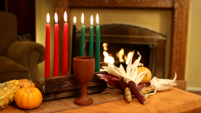 Kwanzaa Candle With Fireplace video