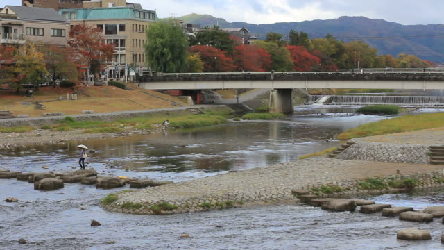 Kyoto River Stepping Stones video