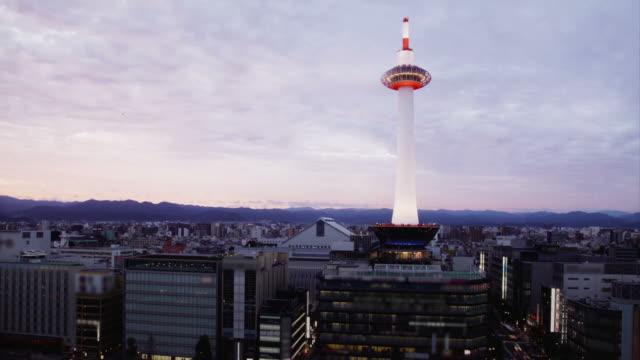 Kyoto skyline video