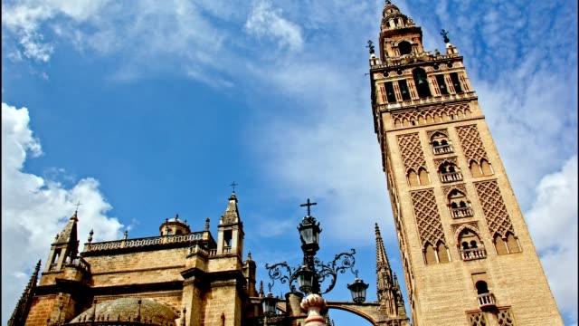 La Giralda bell-tower, Seville. Time Lapse video
