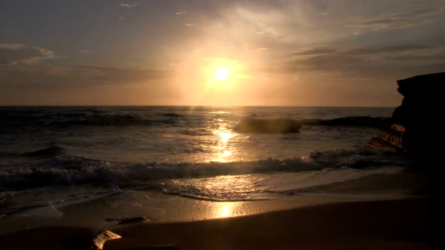 La Jolla California cove sunset. video