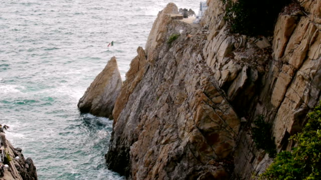 la quebrada acapulco messico (hd - guerrero video stock e b–roll
