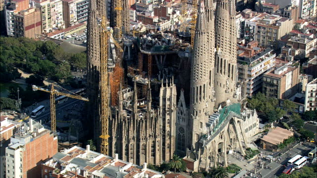 La Sagrada Familia  - Aerial View - Catalonia, Barcelona, Spain video