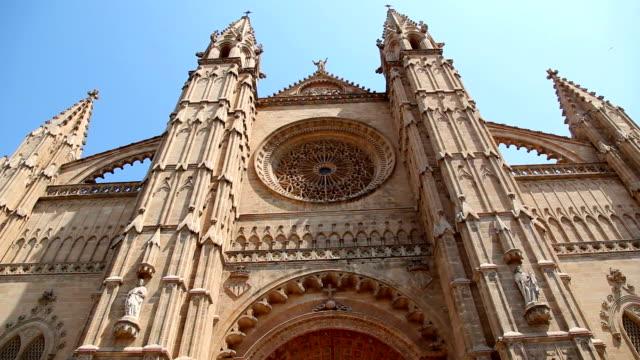 La Seu Cathedral in Palma de Majorca, Spain video