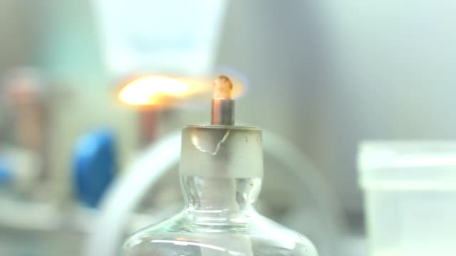 lab fire for science research experiment. laboratory research background - science research stock videos & royalty-free footage
