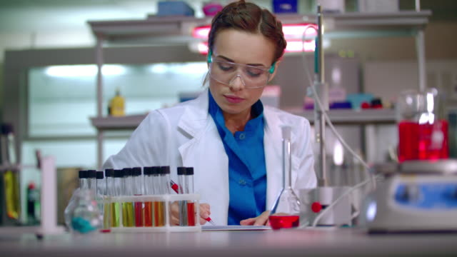 Lab team in science laboratory. Scientist team working in research laboratory video