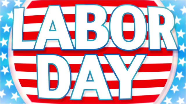 labor day animation - hd video - labor day stock videos and b-roll footage