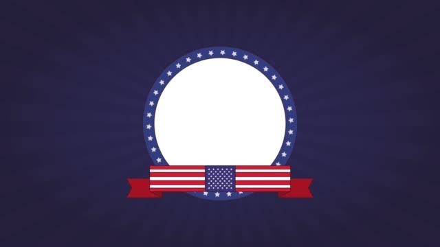 Labor day emblem HD animation video