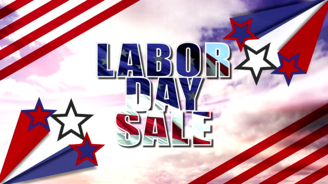 labor day sale title animation hd video - labor day stock videos and b-roll footage